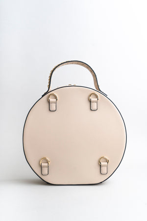 Circle vegan leather bag