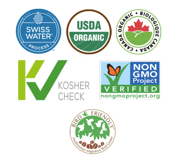 USDA ORGANIC COFFEE, NON GMO COFFEE