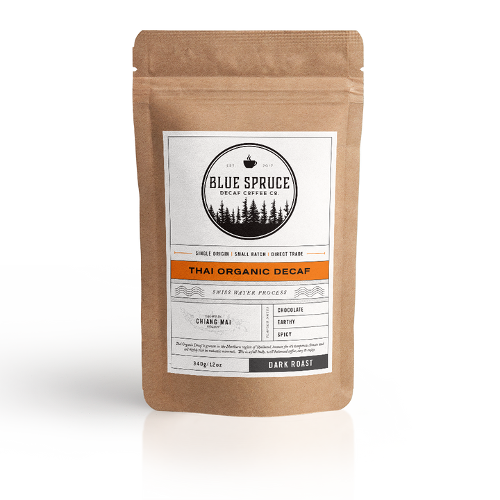 Thai Organic decaf coffee, swiss water, 100% chemical free, voted best decaf coffee
