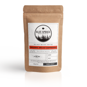 Organic swiss water decaf espresso, 100% chemical free, voted best decaf espresso