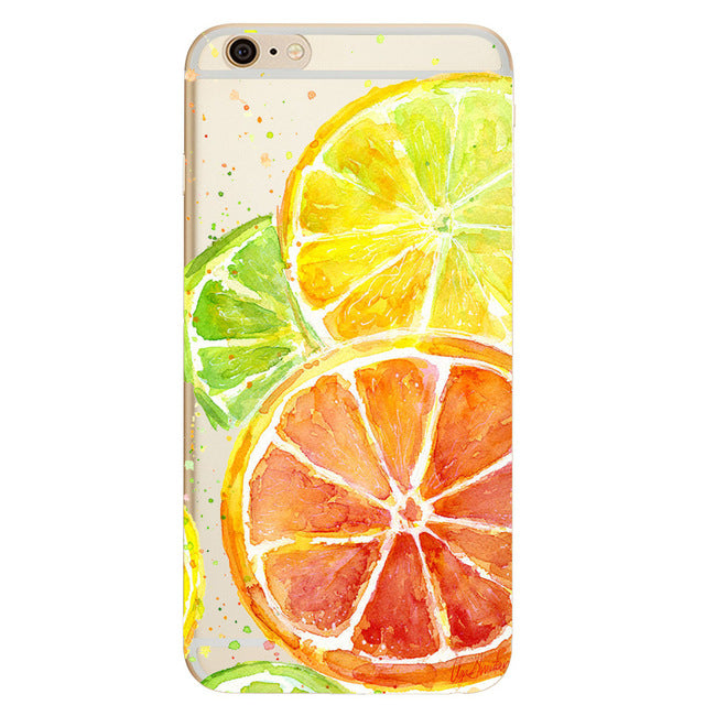 Patterned Design Transparent Soft TPU Silicone Cover for iPhone 8, iPhone 8 Plus and iPhone X