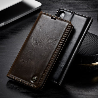 Luxury Leather Magnetic Flip Wallet Case with Kickstand For iPhone 8, iPhone 8 Plus and iPhone X