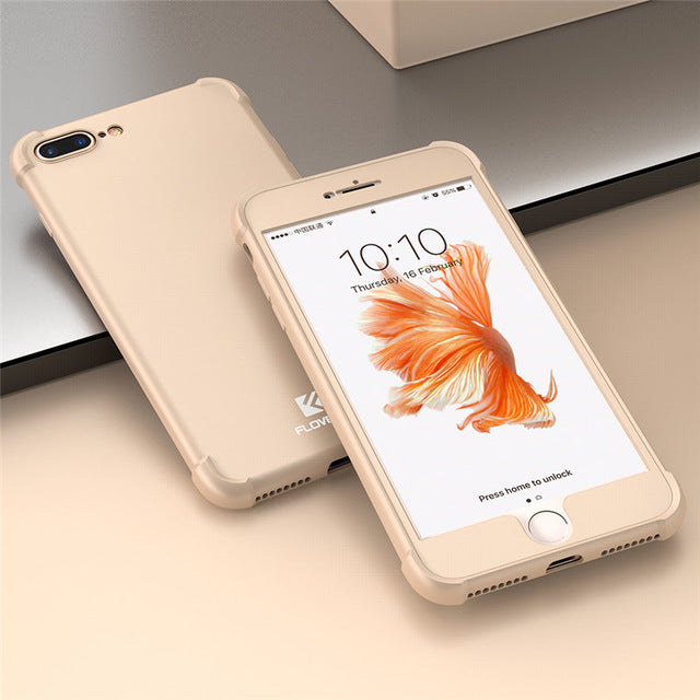 360 Degree Phone Case With Extra Edge Protection For iPhone 8 and iPhone 8 Plus