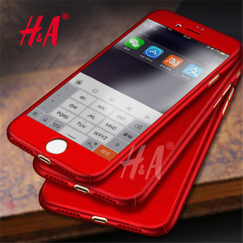 H&A Luxury 360 Full Cover Cases with Glass Protection For iPhone 8 and iPhone 8 Plus