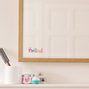 Brilliant Mirror Sticker - Rainbow Pastels