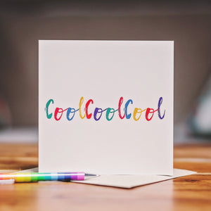 'CoolCoolCool' Greetings Card