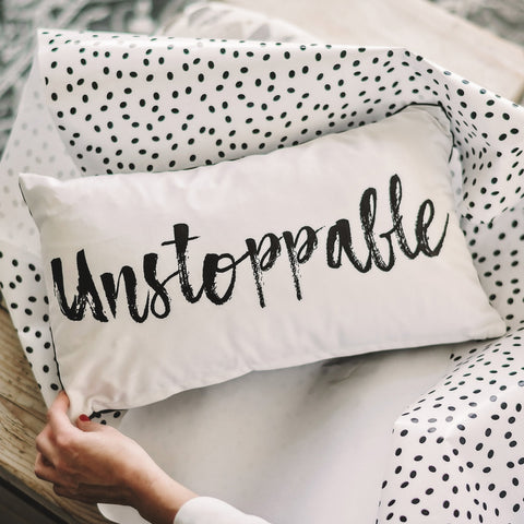 'Unstoppable' Velvet Cushion