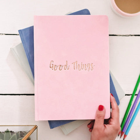 'Good Things' Luxury Velvet Notebook