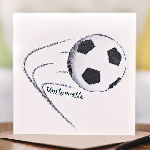 'Born to be… Unstoppable' Football Card