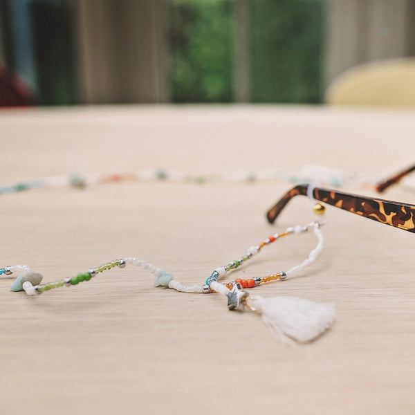 Shady Beach Natural Stone Sunglasses Cord