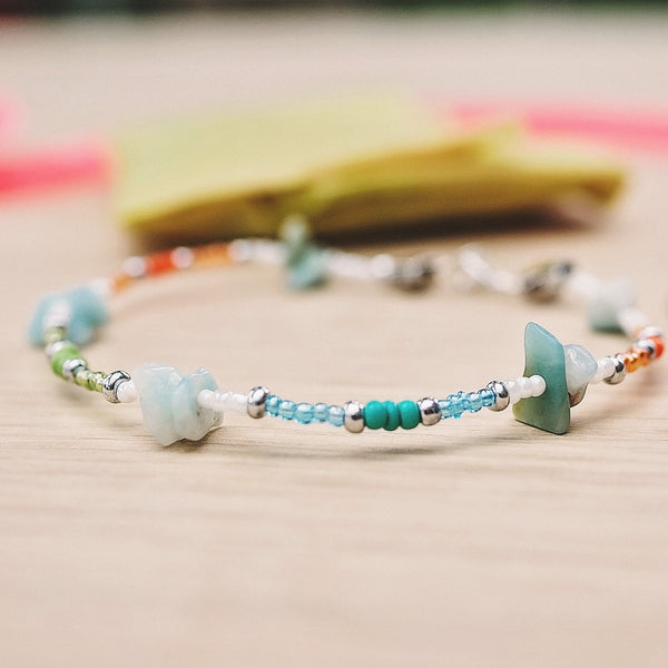 Shady Beach Natural Stone Anklet
