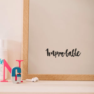 Improbable Mirror Sticker