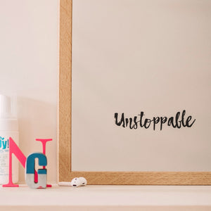 Unstoppable Mirror Sticker