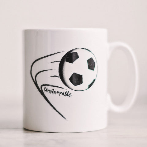 'Unstoppable' Football Mug