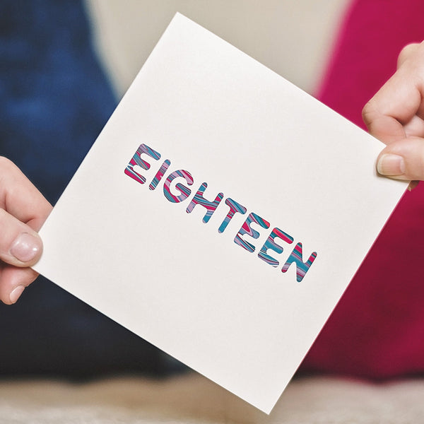'Eighteen' Birthday Card