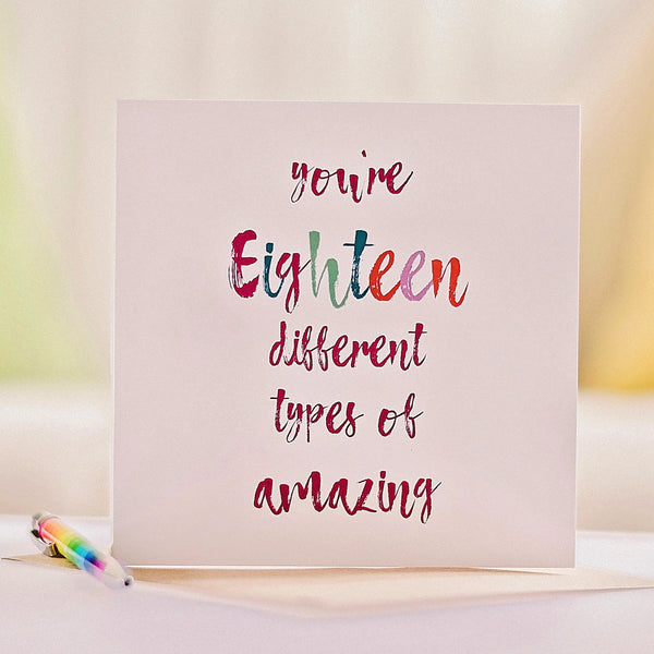 18 Reasons You're Amazing Keepsake Birthday Card