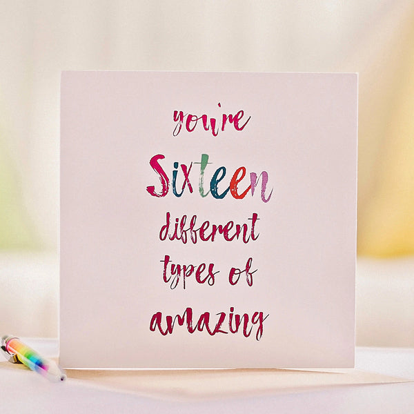 16 Reasons You're Amazing Keepsake Birthday Card