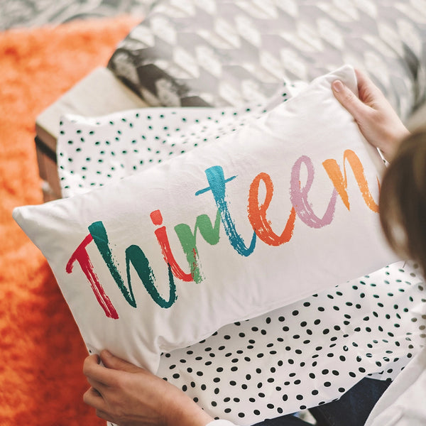 'Thirteen' Cushion - Rainbow Pastels