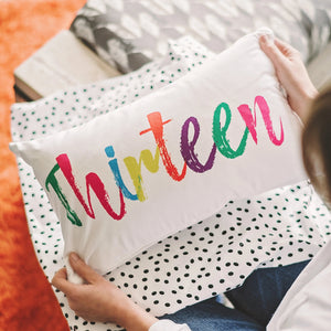 'Thirteen' Cushion - Rainbow Brights