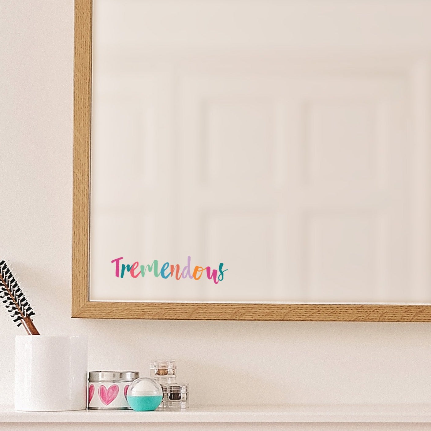 Tremendous Mirror Sticker - Rainbow Pastels