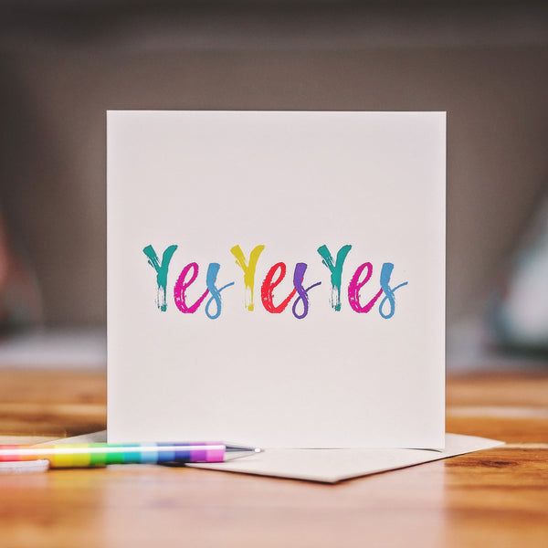 'Yes Yes Yes' Card - Rainbow Brights