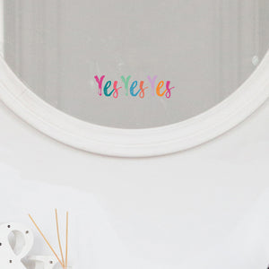 Yes Yes Yes Mirror Sticker - Rainbow Brights