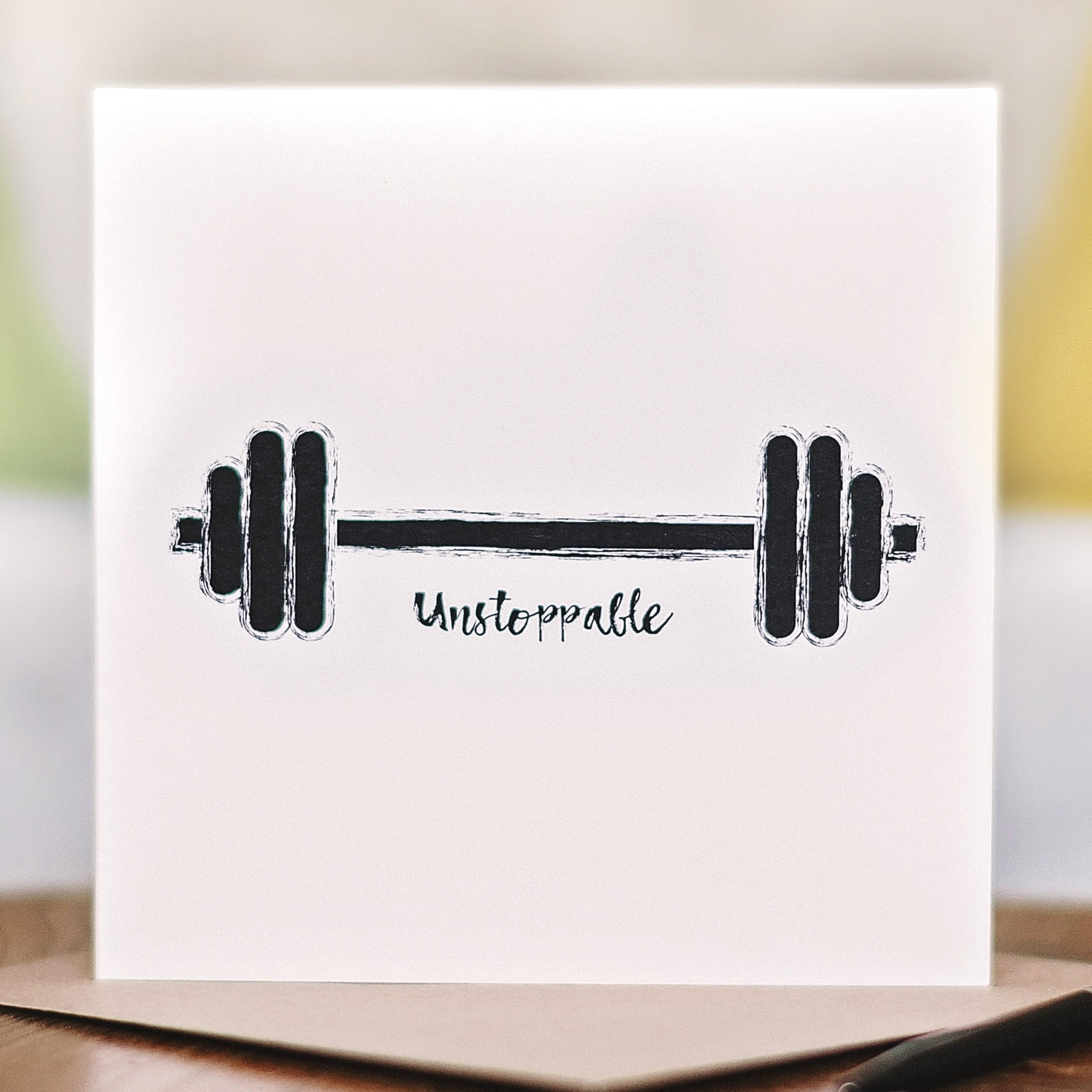 'Born to be… Unstoppable' Workout Card