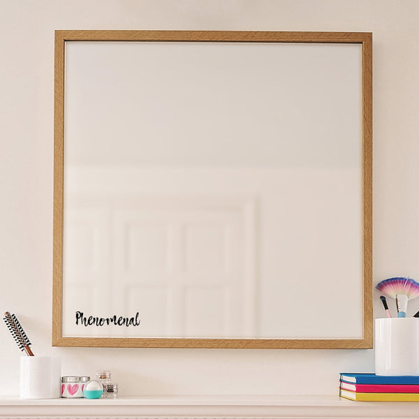 Phenomenal Mirror Sticker - Black