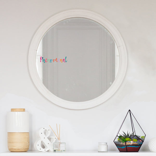 Phenomenal Mirror Sticker - Rainbow Pastels