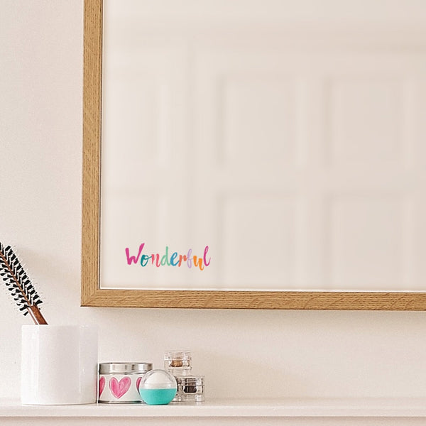 Wonderful Mirror Sticker - Rainbow Pastels
