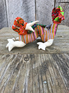 Thai Hmong Fabric Stuffed Animals No. 3 - Dragon
