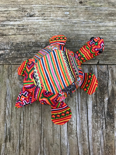 Thai Hmong Fabric Stuffed Animals No. 6 - Turtle