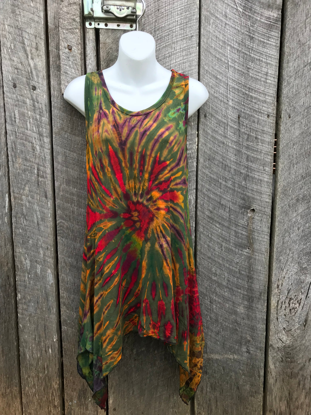 Super Soft Thai Tie Dye Yoga Tank/Tunic - one size No. 29