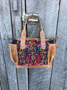 Vintage Handmade Oak Convertible Day Bag no. 2