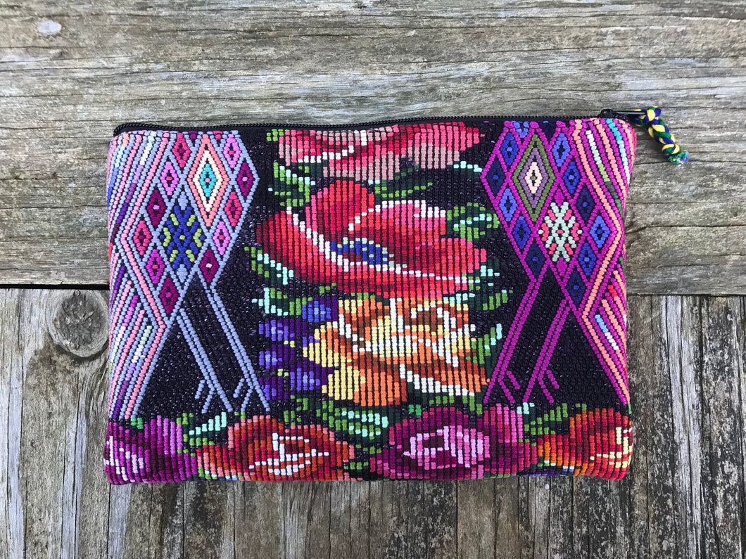 Vintage Handmade Huilpil cosmetic bag pouch  no. 14