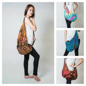 Hand Made Thai Tie Dye Boho Day Bag No. 3 - TTD