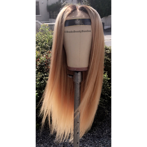 Ash Blonde Closure Wig