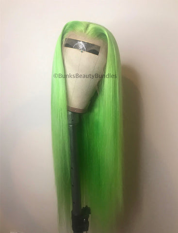 Slime Green Frontal Wig