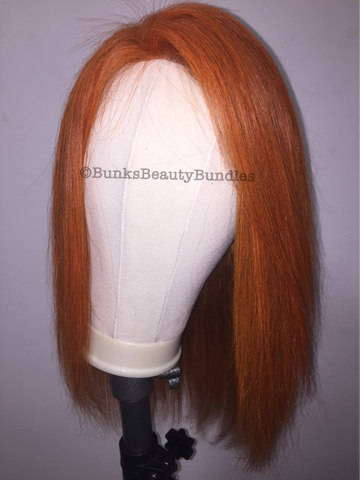 Orange Closure Wig
