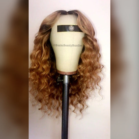 Honey Blonde Ombré Wig