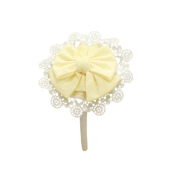 PRE ORDER SS21 Miranda Lemon & White Hairband - 241DP