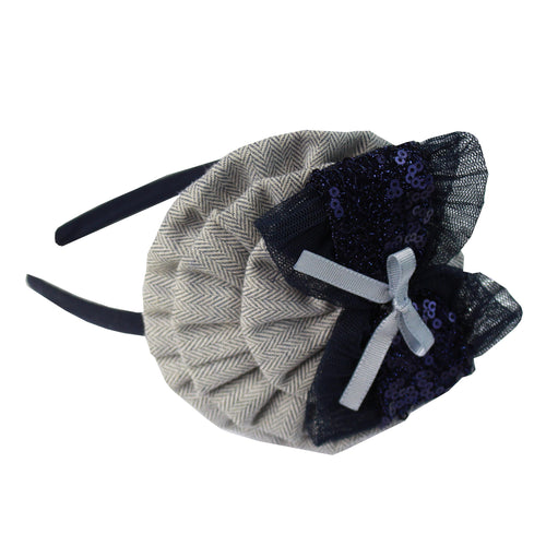 AW20 Miranda Navy Metallic Hairband - 246D