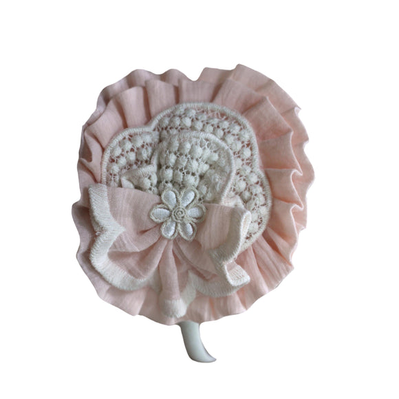 PRE ORDER SS21 Miranda Pink Embroidered Hairband - 226D