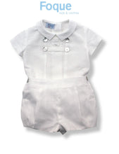 Foque Cream Baby Boys Short Set