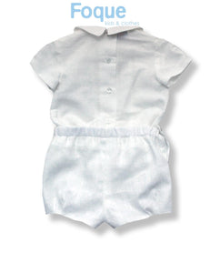 Foque Cream Baby Boys Short Set 2