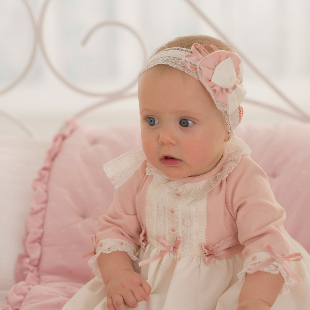 Dolce Petit Rose Pink Baby Hairband