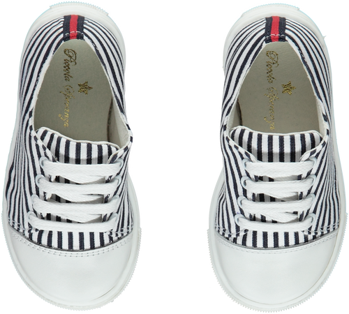 Piccola Speranza Navy & White Stripe Boys Sneakers