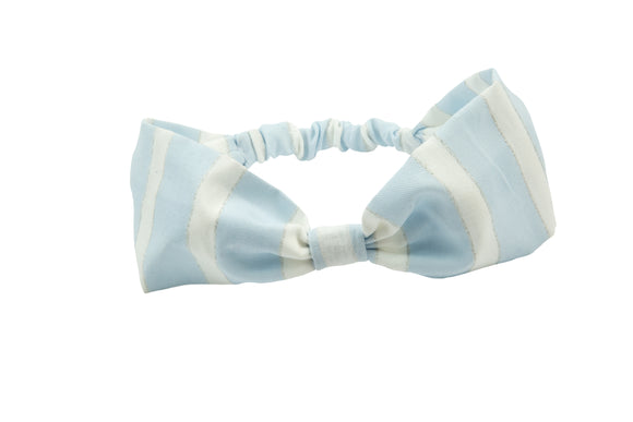 Rochy Rayas Lurex Turban Hairband - Blue