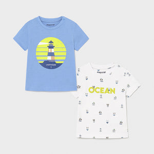 PRE ORDER Mayoral Mini Boys Lavender T-Shirt Set - 1008