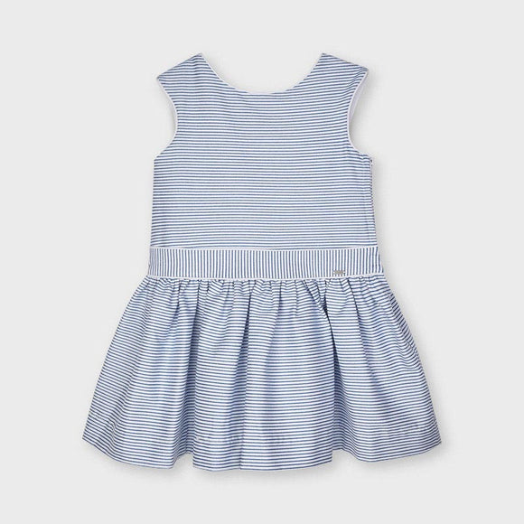 Mayoral Girls Blue Striped Lurex Dress - 3915
